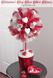 deco mesh ideas valentines day gifts diy a deco mesh topiary for s day
