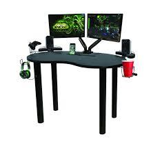 atlantic furniture gaming desk black carbon fiber eclipse gaming desk black