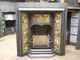antique arts and crafts tiled fireplace insert 169ti 681 old
