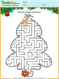 tree maze worksheet turtle diary