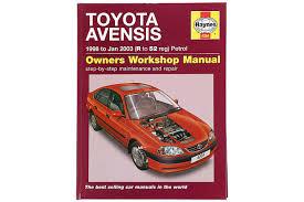 reparationshåndbog avensis i ii 9 97 3 03 reparationshåndbøger