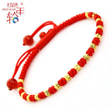 red rope bracelet images Red annual ring gold transfer zhulu lutong birth year red rope jpg