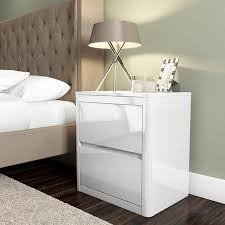 white high gloss table lexi white high gloss 2 drawer bedside table furniture123
