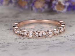 promise engagement rings images Marquise set diamond wedding band solid 14k rose gold 3 4 eternity jpg