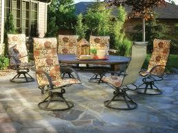Sling Swivel Rocker Patio Chairs high back swivel patio chairs swivel club pebble lane living