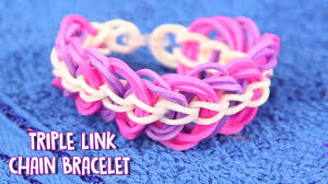chain link bracelet patterns images How to make rubber band bracelet a easy triple link chain jpg