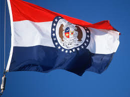 Flag White On Top Red On Bottom Missouri Flag State Flag Of Missouri