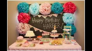 How To Make Birthday Decorations At Home Home Design Baby First Birthday Party Decorations At Home