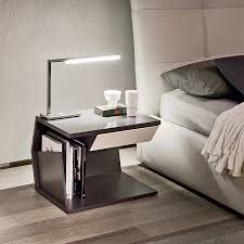 furniture chrome bedside table modern nightstand white modern