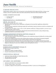 Skills Section Of Resume Resume Objective For Customer Service Call Center Resume Objective