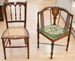 Edwardian Bedroom Furniture by A Bergair Mahogany Bedroom Chair With An Edwardian Library Chair