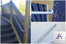 Handrails For Outdoor Steps Aluminum Wall Mounted Handrail Aluminum Wall Mounted Handrail