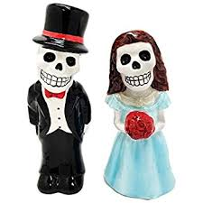 Salt Pepper Shakers Halloween Costumes Amazon 1 Dead Sugar White U0026 Blue Skulls Salt