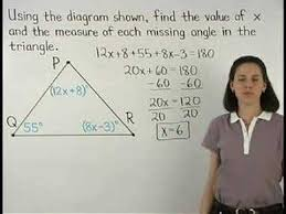 Sum Of The Interior Angles Of A Polygon Worksheet Angles Of A Triangle Triangle Sum Theorem Mathhelp Com Youtube