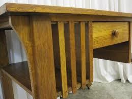 Library Tables For Sale Antique Oak Library Table Desk Mission Arts U0026 Crafts For Sale