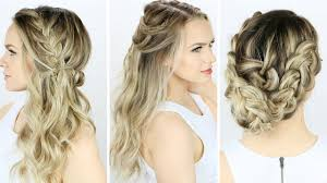 Easy Dressy Hairstyles For Long Hair by 3 Prom Or Wedding Hairstyles You Can Do Yourself Youtube