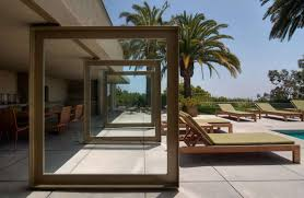 glass doors are typical for modern houses house entrance design