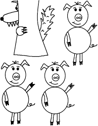 church 3 pigs coloring wecoloringpage