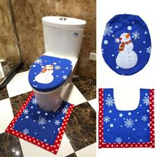 Bathroom Contour Rug by 2016 Santa Claus Toilet Seat Cover And Rug Bathroom Set Contour