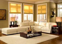 beautiful white yellow modern living room design with window