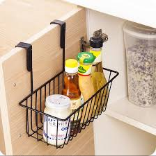 Cabinet Door Basket Kitchen Organizer Iron Cabinet Door Hanging Storage Basket Drainer
