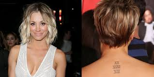 kaley cuoco covered her wedding date tattoo with a moth design