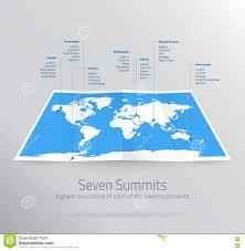 Seven Continents Map Seven Continents Map With National Borders Cartoon Vector