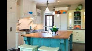 romantic kitchen with turquoise accents for colorful kitchen