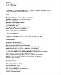 Marketing Job Resume Sample by Technical Marketing Manager Cover Letter