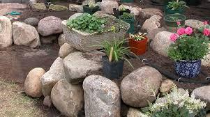 garden glow stones landscape design