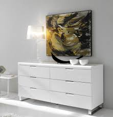 alamo modern sideboard or chest of drawers in white high gloss