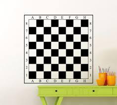 online get cheap wall art studio aliexpress com alibaba group chessboard sticker wall art checkerboard vinyl decal dorm studio home room design interior art decor