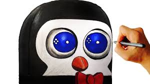 how to make a fnaf fan game how to draw penguin from fnac fnaf fan game easy step by step lesson