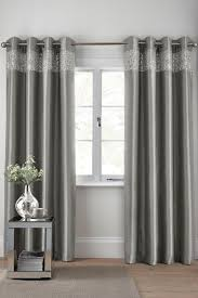 buy shimmer band eyelet curtains from next uk online shop