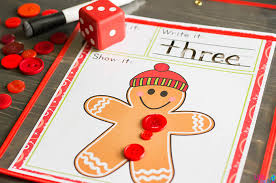 free printable gingerbread roll and count math game life over cs