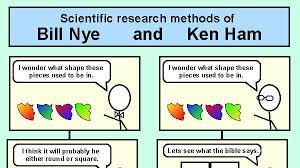 Ken Ham Meme - scientific research methods of bill nye and ken ham weknowmemes