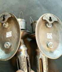 Pewter Sconces Sconce Vintagecolonialhammeredpewterwallsconcecandelabracandle