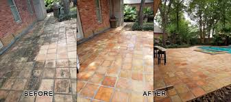 outdoor patio saltillo tile refinishing houston bizaillion floors