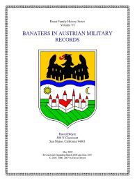 banat family history series book vi