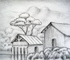 photos landscape pencil sketches simple drawing art gallery