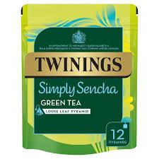 twinings simply sencha green tea bags 12 per pack from ocado