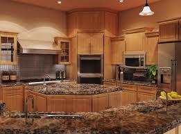 Kitchens With Granite Countertops Kitchen Charming Oak Kitchen Cabinets With Granite Countertops