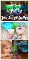 light up mason jar aquariums the tiptoe fairy