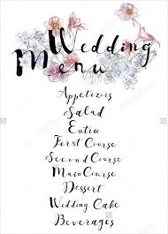 Wedding Menu Template 23 Wedding Menu Templates U2013 Free Sample Example Format Download