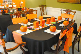 Simple Table Decorations by Halloween Table Centerpieces View In Gallery Black Candle