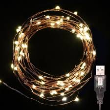 ultra thin led copper wire 5v usb powered string lights