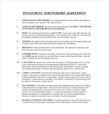 sample investment contract template small business investment