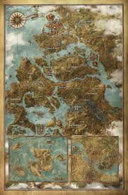 Huge World Map by The Witcher 3 Wild Hunt Huge Full World Map Revealed