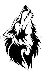 tribal clipart tribal wolf pencil and in color tribal clipart