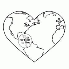 earth heart coloring page kids drawing and coloring pages marisa